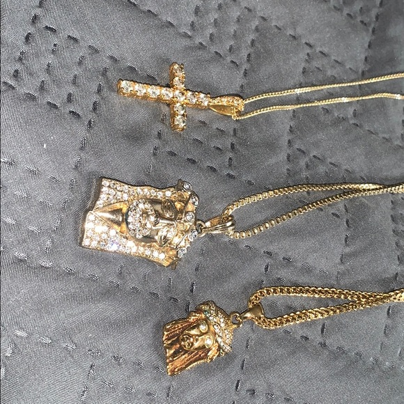 Other - 3 gold pendants included with chains